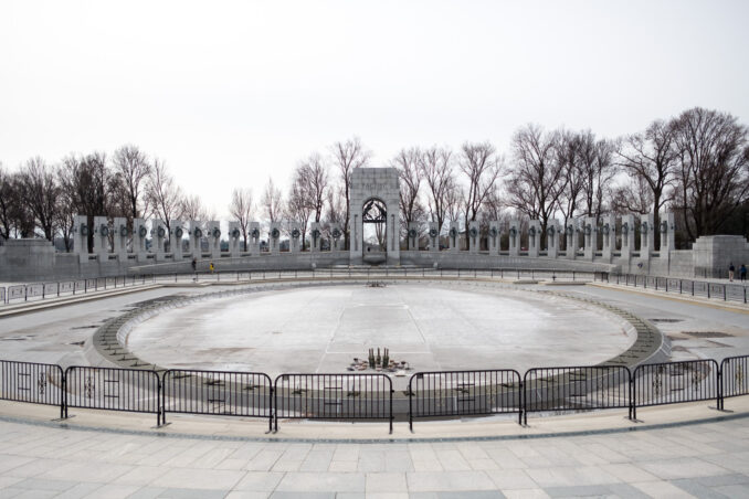 World War II Memorial Fountain - February 27, 2017